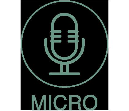 Planète drone Icône Micro