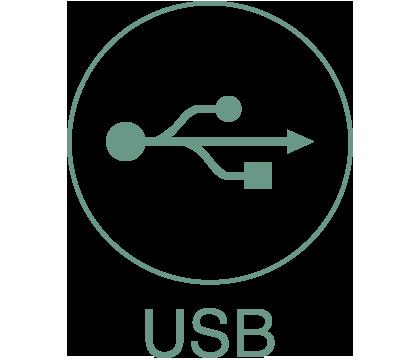 Planète drone Icône USB